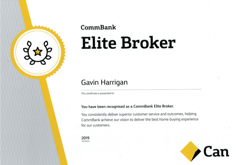 Gavin Harrigan, the winner of the commbank elite broker award