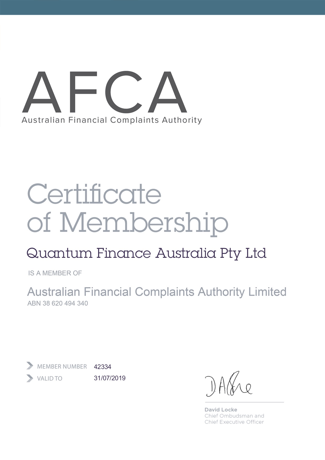 Gavin Harrigan is a member of the Australian financial complaints authority
