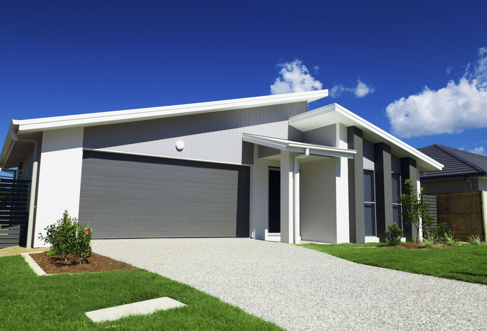 The Current Australian housing market illustrated with a new home