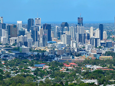 A veiw of the city of Brisbane Australia