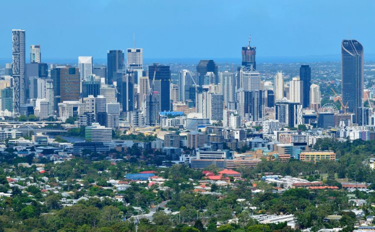 A veiw of the city of Brisbane Australia