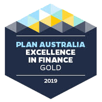 The Gold Excellence in Finance Award Awarded to Quantum Finance Australia by Plan Australia.