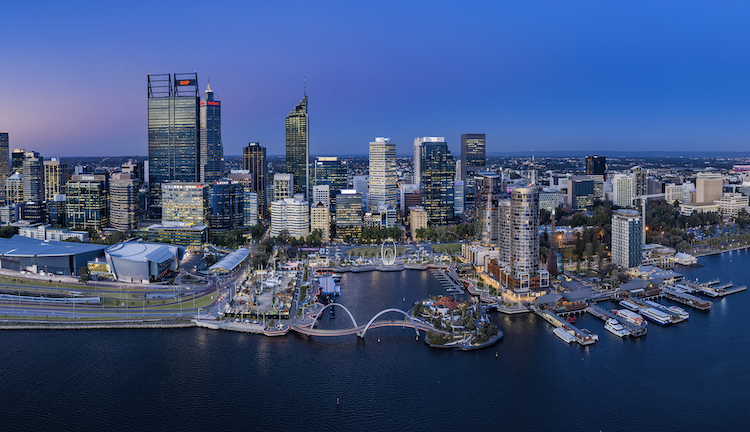 The city of Perth from up above.