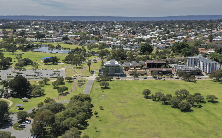 The perth green landscape with room to build.