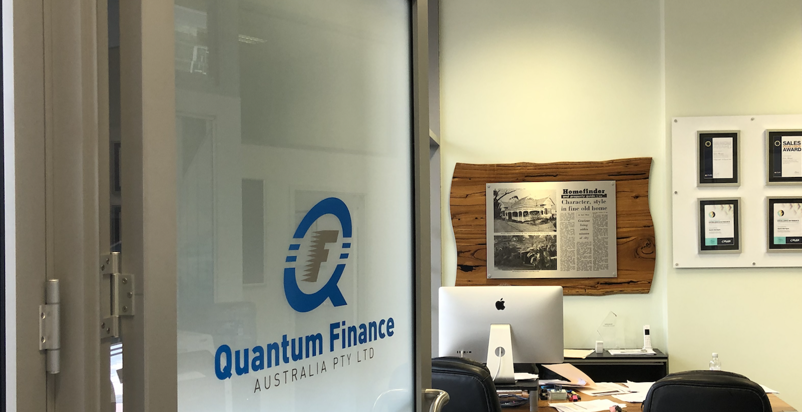 The entry to the Quantum Finance Australia office in Perth Western Australia.