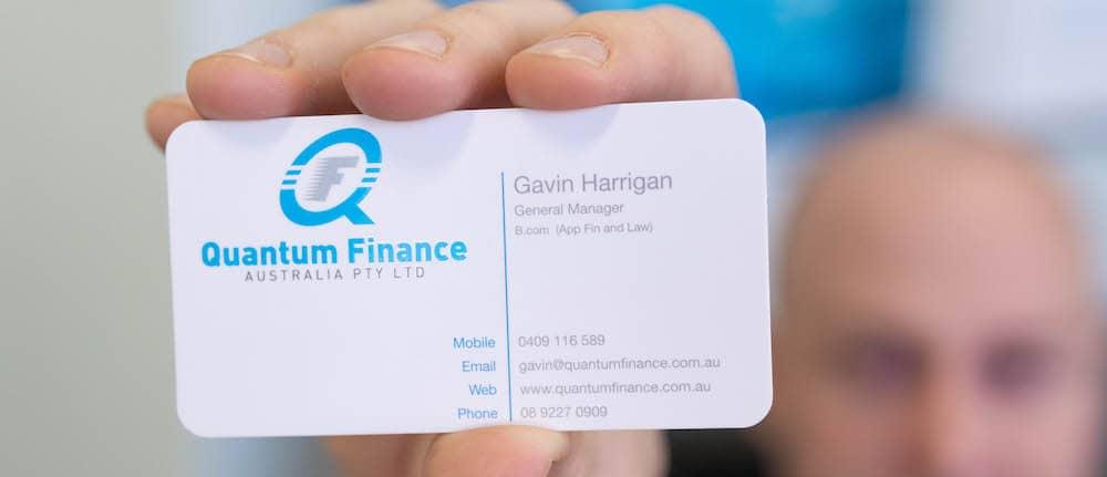 Quantum Finance Australia business card.